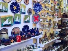 Souvenir shop in Ouranopolis, Athos Peninsula, Mount Athos, Chalkidiki, Greece2