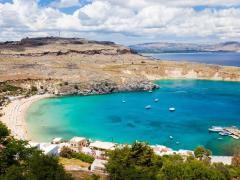 39_Beautiful-day-overlooking-the-main-beach-at-Lindos-on-the-Island-of-Rhodes-Greece